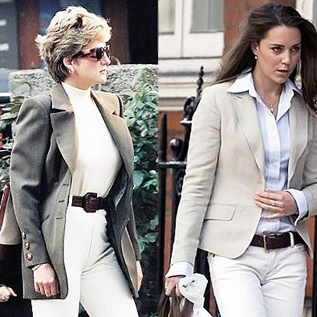 У леди Ди и Кейт даже манера одеваться похожа!