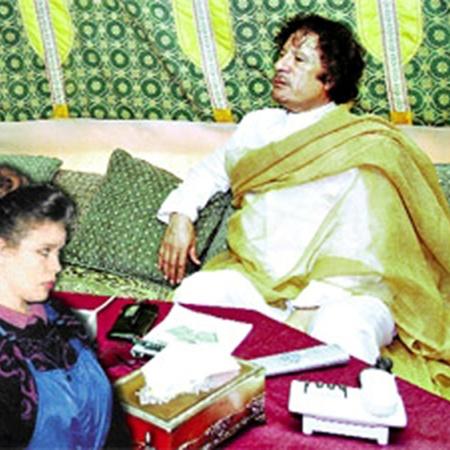 Ливийский лидер берет с собой Галину Колотницкую на все встречи и мероприятия.