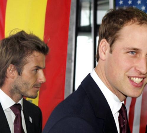 Принц Уильям и Дэвид Бекхэм (слева) в Цюрихе