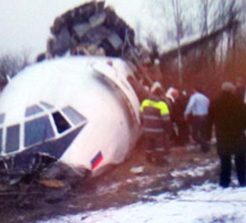 Ту-154 во время экстренной посадки в Домодедово получил серьезные повреждения.
