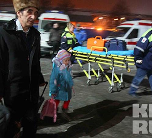 Пострадавших при посадке лайнера из аэропорта увезли в больницы.