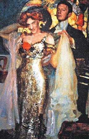 Новое слово в ресторанном бизнесе: стены заведения под названием «Улицы разбитых фонарей» украшают исторические полотна с лицами владельцев - Александра Половцева (слева) и Михаила Трухина.