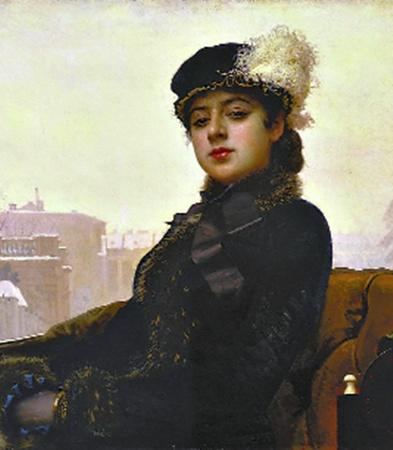 Крамской. Портрет неизвестной, 1883 год.