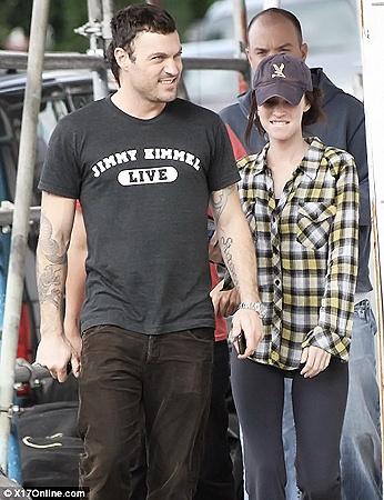 Меган Фокс с мужем Брайаном.