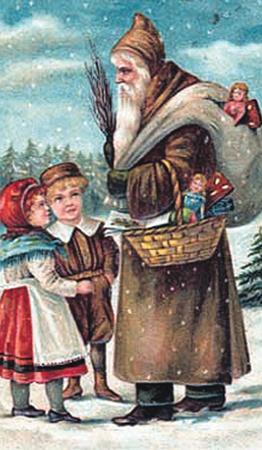 Еще сто лет назад вид у Деда Мороза был невзрачный: ни шубы, ни шапки на меху.