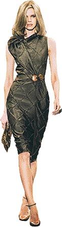 Платье размытого цвета, подчеркивающее силуэт, - то, что надо Кролику!