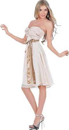 Такое коктейльное платье хорошо для клубной вечеринки.