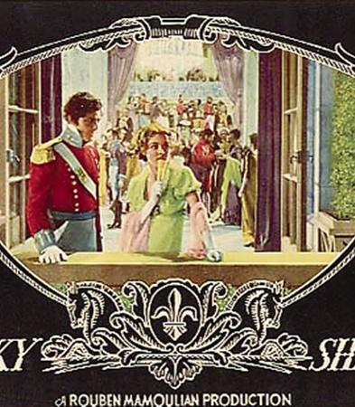 Афиша первого полнометражного кино в цвете «Бекки Шарп» (1935).