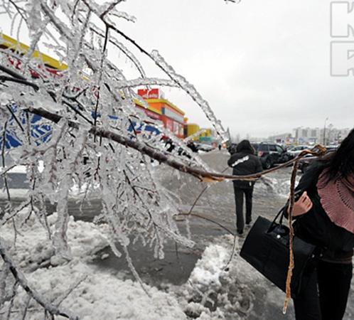 Москва покрылась льдом. Фото с сайта Kp.ru