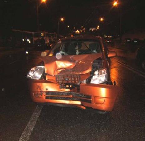 В Киеве столкнулись три автомобиля. Фото с сайта ukranews.com.