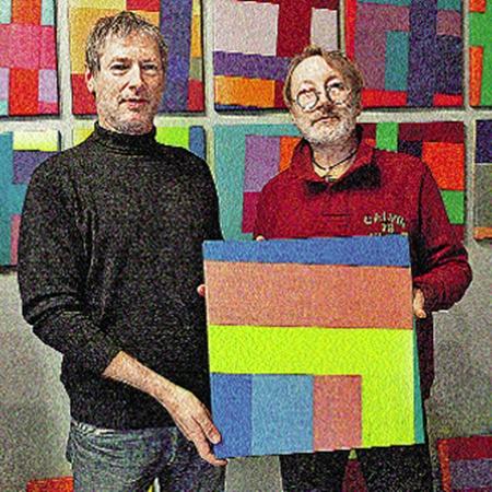 Владелец галереи Винсент Мателаер дарит Мешкову свою картину! Как художник художнику!