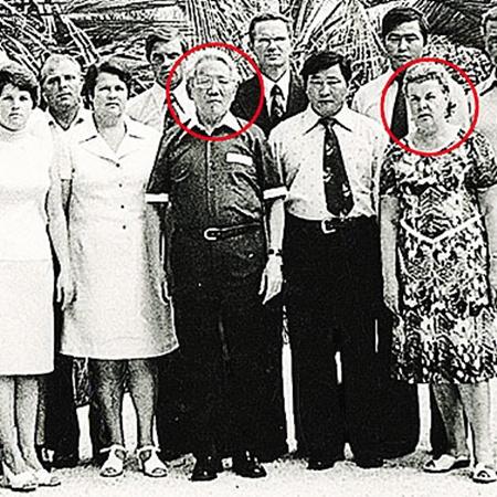 Маршал Цеденбал с супругой и обслуживающим персоналом.