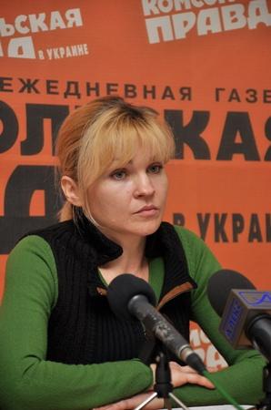 Жена Владислава Тиховского Наталья.
