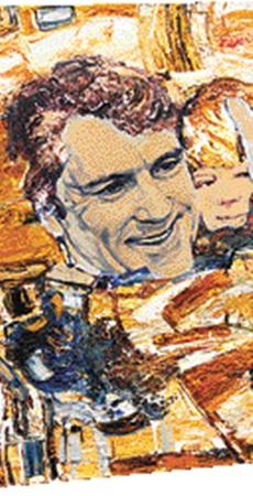 Один из экспонатов Музея подарков президентов в библиотеке имени Вернадского: портрет Ющенко с сыном. Фото Максима ЛЮКОВА.