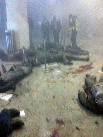 Первые минуты после взрыва. Фото Ilya likhtenfeld/twitter.com.