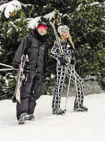 Евгений Плющенко с Яной Рудковской - самые симпатичные на горе.