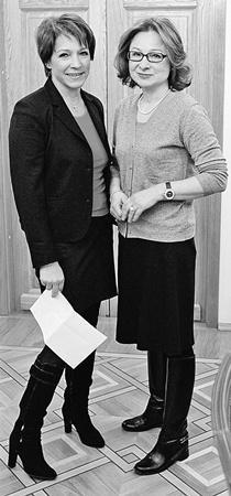 Дочери Бориса Ельцина Татьяна Юмашева (слева) и Елена Окулова (справа).