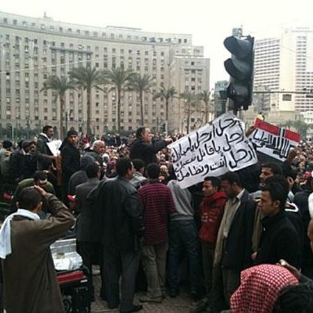 Утро субботы в Египте. Фото из твиттера @fpleitgenCNN