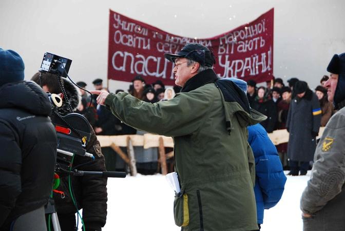 Режиссер фильма весь в работе. Фото Николай Лещук.