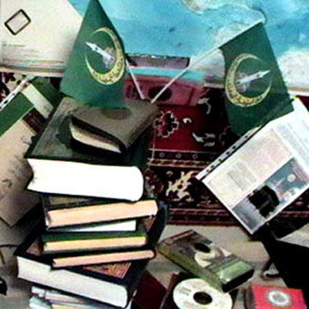 В доме террористов найдена различная литература религиозного характера. Фото пресс-службы МВД РБ.