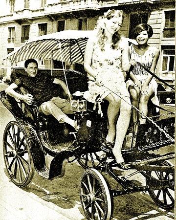 Июнь 1967 г. С актрисой Сен-Пол на фестивале неаполитанской песни.