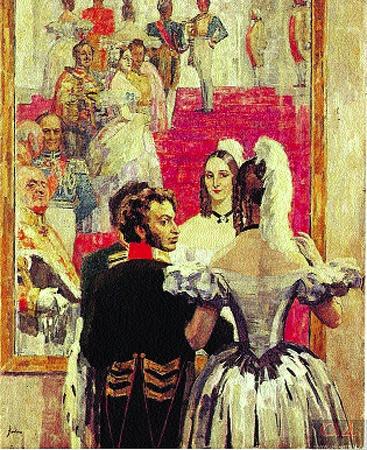 И рисовал все подряд - себя, жену Наталью, друзей.