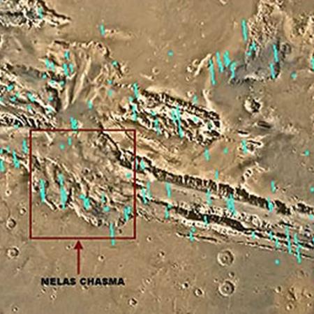 Район Красной планеты, где производил съемку европейский зонд.
