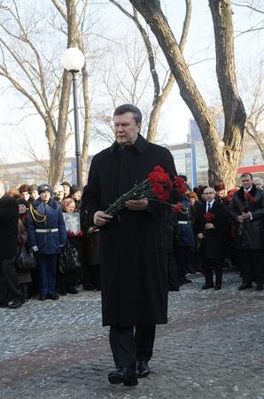 За день в Харькове президент успел многое.Фото Александра МАРЧЕНКО.