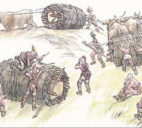 Так, по мнению Лавина, доставляли каменные блоки на строительство Стоунхенджа 5 тысяч лет назад
