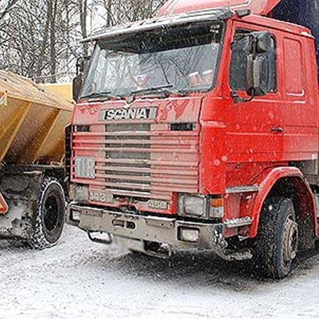 Водитель грузовика не пострадал. Фото Николая Шинкаря