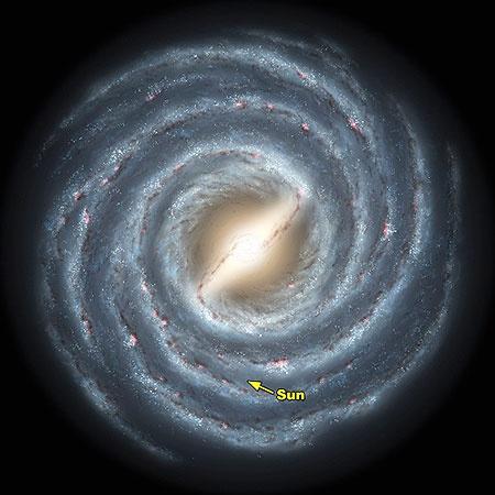 Это наша Галактика. Млечный Путь. Здесь насчитали 50 миллиардов планет.