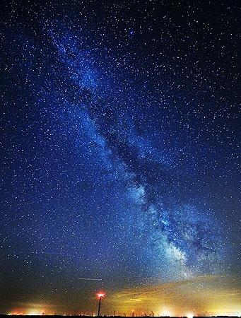 Рукав Млечного пути, видимый с Земли.