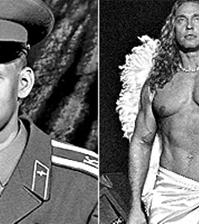 Сергей Глушко долго прятал красивое тело под военной формой.