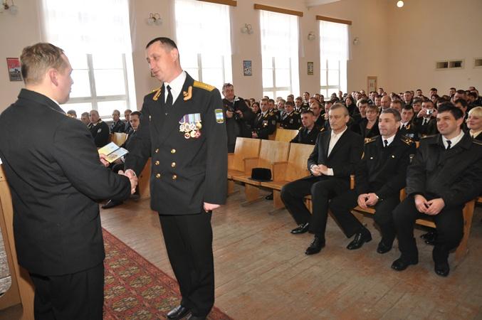 Награждении проявивших себя офицеров и мичманов.