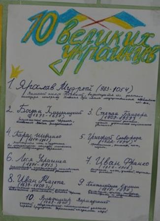 Список донецких школьников. Фото блоггера verta-let.