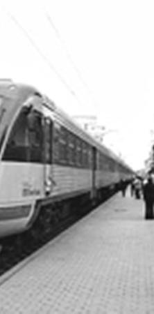 Современный электропоезд «Экспресс».