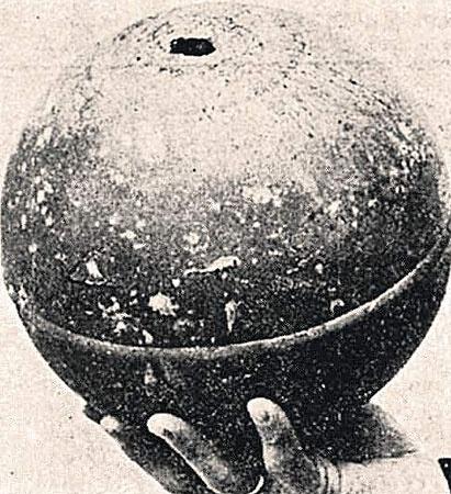 Один из загадочных шаров оказался частью советской ракеты.