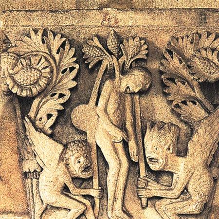 Самоубийство Иуды (барельеф ХII века, Франция) - скорее легенда и пугалка...