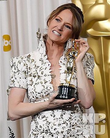 Мелисса Лео признана лучшей актрисой в номинации «Лучшая женская роль второго плана». Фото АП.