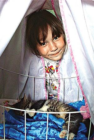 Инга и ее котенок удостоились специального приза.