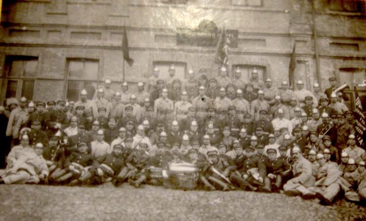Первая и вторая пожарные команды. 1 мая 1922 года.