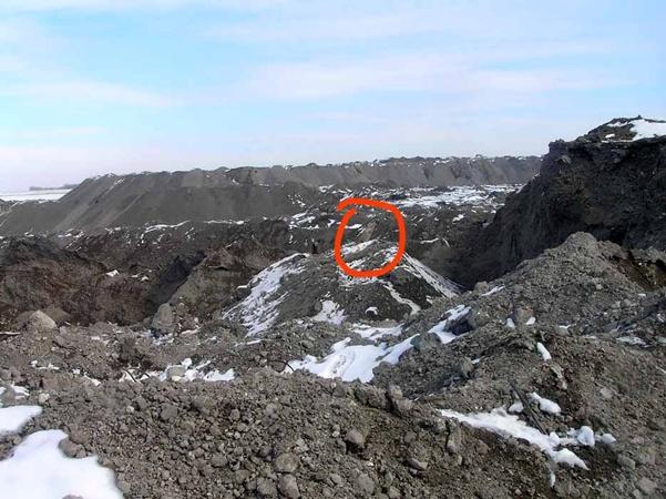 На место находки должна приехать взрывотехническая группа из Донецка. Фото: Николай Рябченко.