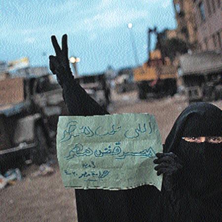 Противники Мубарака отстаивают свои новые ценности...