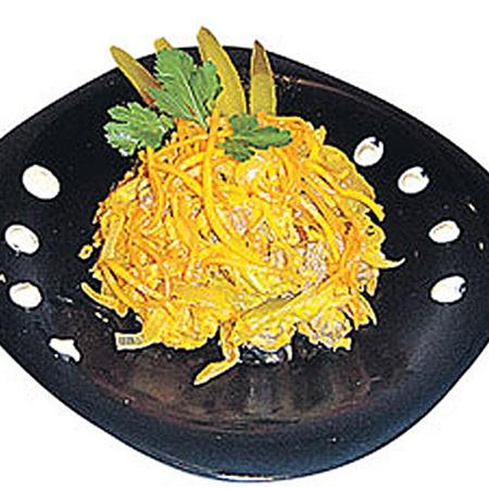 Салат Обжорка рецепт с печенью или мясом. Обсуждение на . Салат