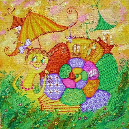 Красочная картина Елены Мироновой поднимает настроение. Фото с сайта www.artschool.dp.ua