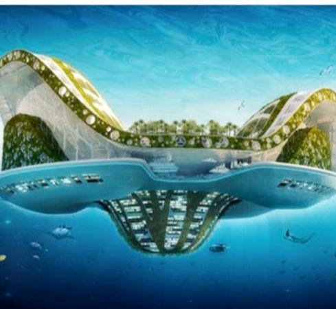 Плавающий город будущего LilyPad сможет вместить 50 тысяч человек. Фото: с сайта novate.ru