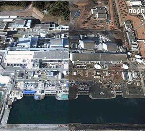 На спутниковой фотографии видны разрушения АЭС. Фото АП