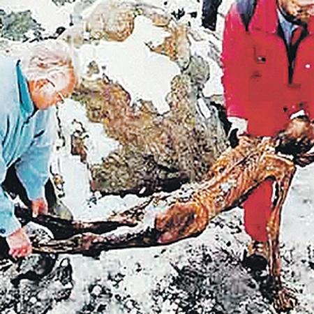 Вмерзшее в лед тело хорошо сохранилось. Сначала даже подумали, что это труп альпиниста.