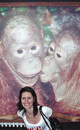 Виктории из Ивано-Франковска поднимают настроение влюбленные обезьянки.