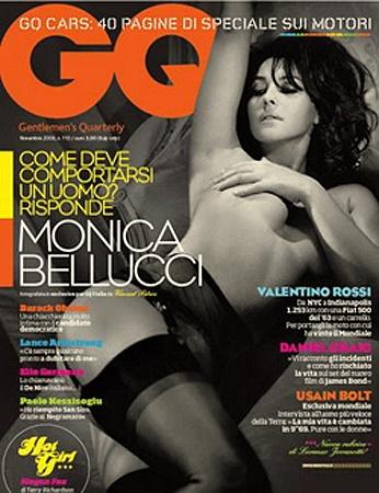 Обложка итальянского журнала GQ. Фото monicabelluccifan.com.